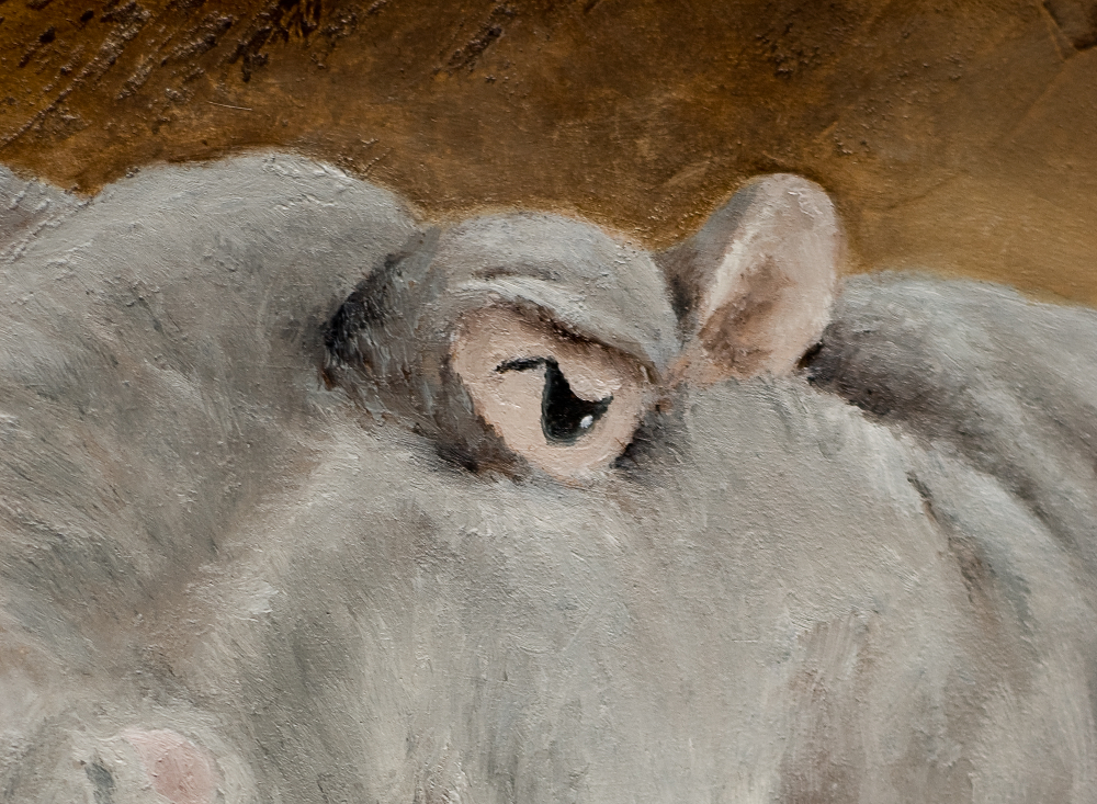 "detail of ""Hippo"" by Julie Doornbos"