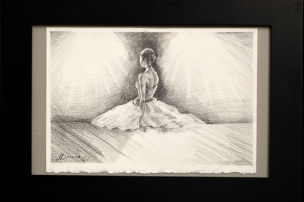 "drawing study for ""Prelude"" by Julie Doornbos  2011  private collection"