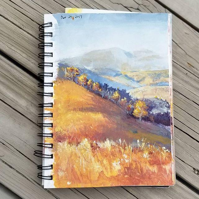 Casein mountain landscape sketch.  #instagood #instart #instartist #painting