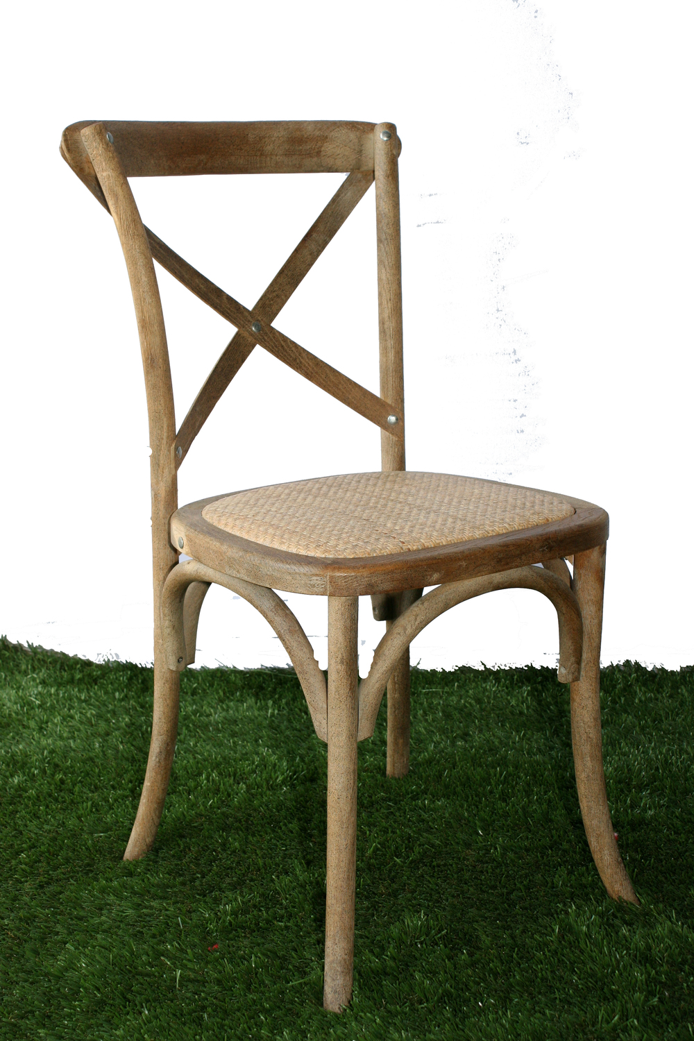 French Country Cross Back Chair