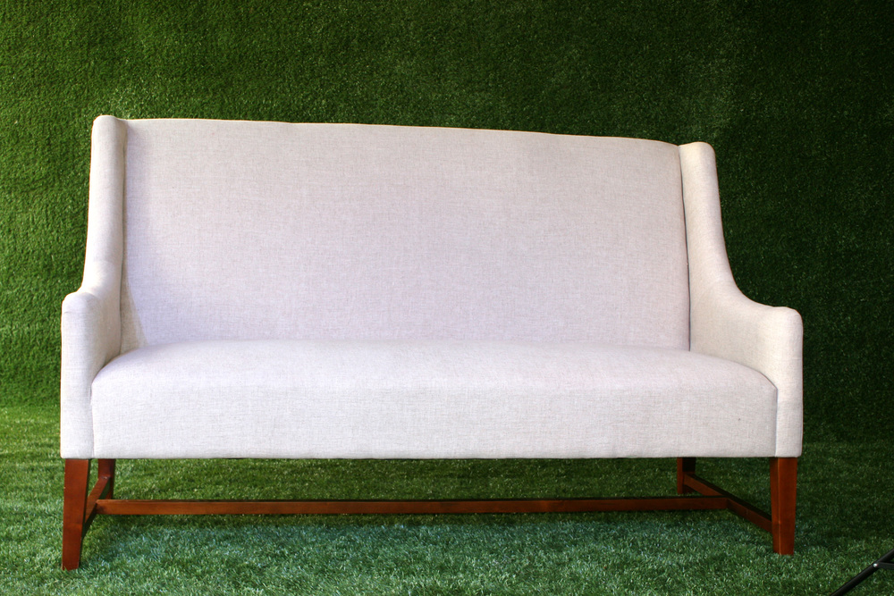 Linen Banquette With Arms