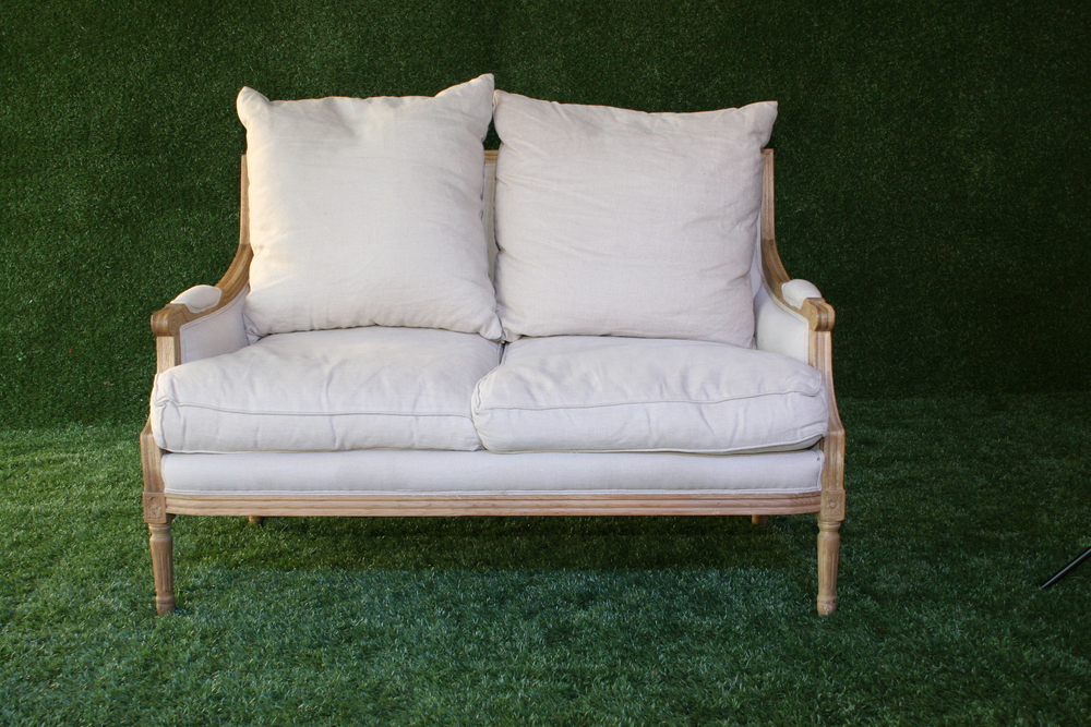 French Country Cream Sofa (small)