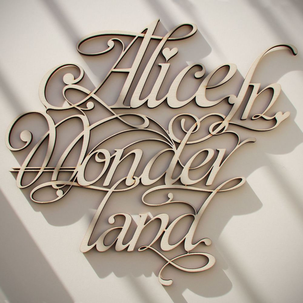 Wood Laser Cut & Type Design