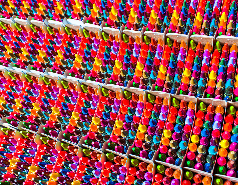 From Wired article: Inside the Rainbow Factory Where Crayola Crayons Are Made