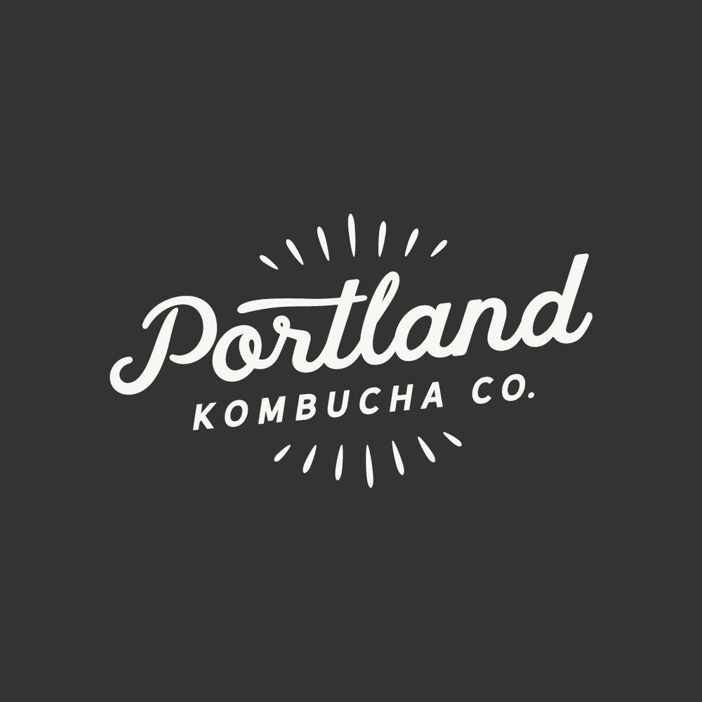 Portland Kombucha Co. Logo Design by Perspektiiv Design Co. in Portland, Oregon