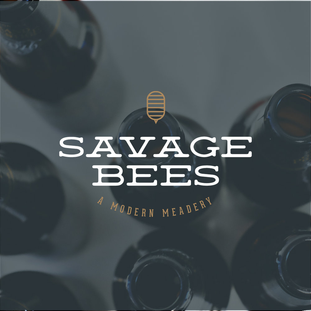 Savage Bees Modern Meadery Logo Design by Perspektiiv Design Co. in Portland, Oregon