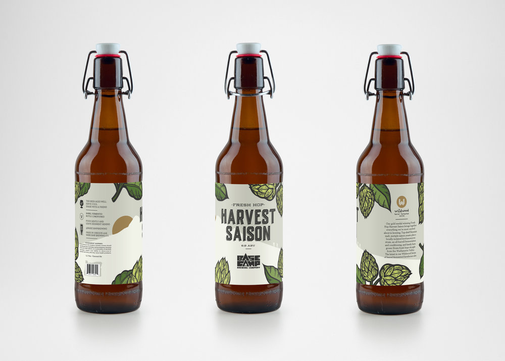 Basecamp Brewing Harvest Saison Label Design Portland Oregon by Perspektiiv Design Co.