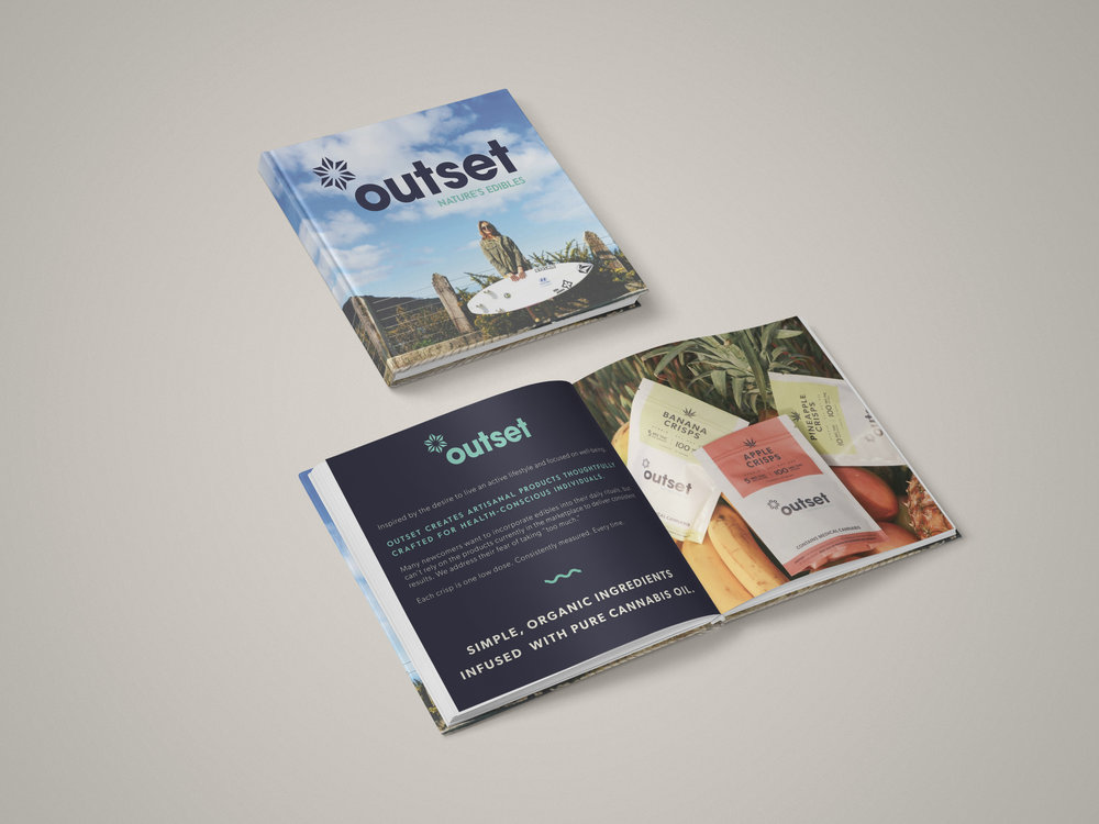 Outset Edibles Brand Book by Perspektiiv Design Co.