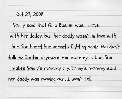 October 23, 2008 - Alder's Childhood Journal #2
