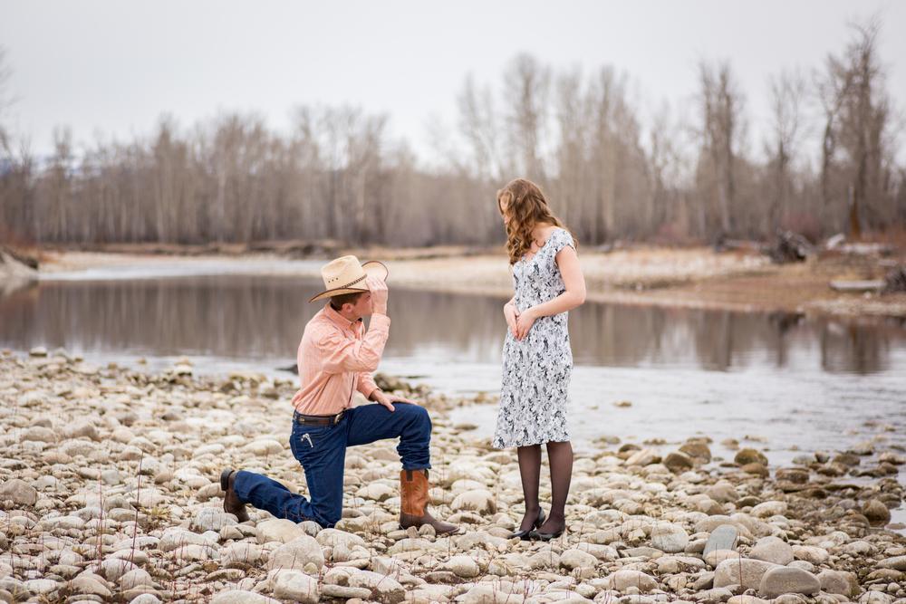 montana proposal by river