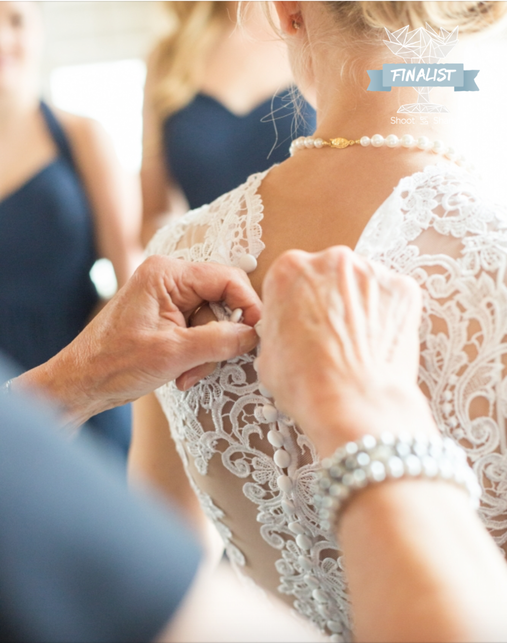 2016 Shoot & Share Photo Contest bride getting ready lace wedding dress detail