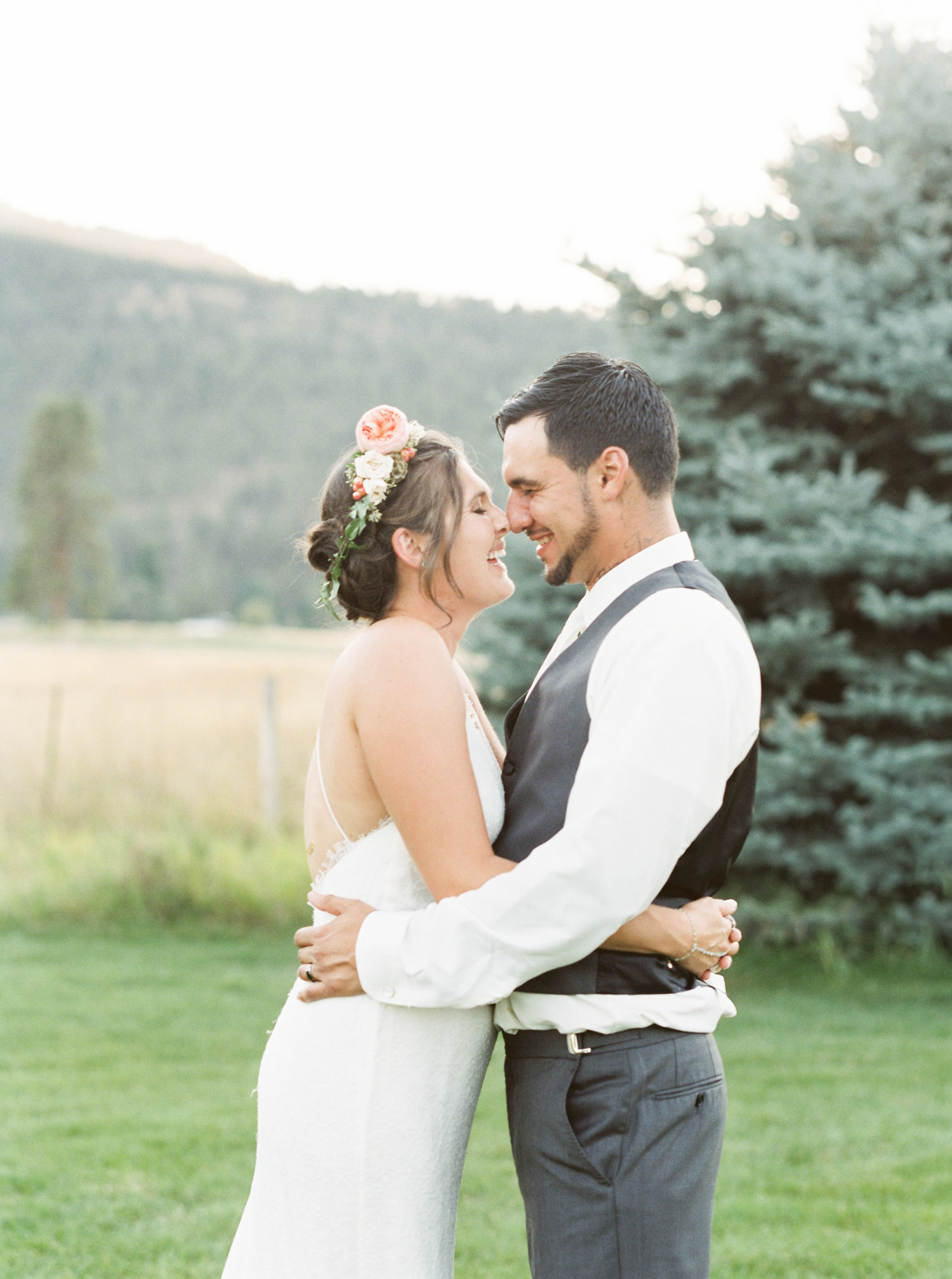 jenn robert intimate backyard wedding montana wedding