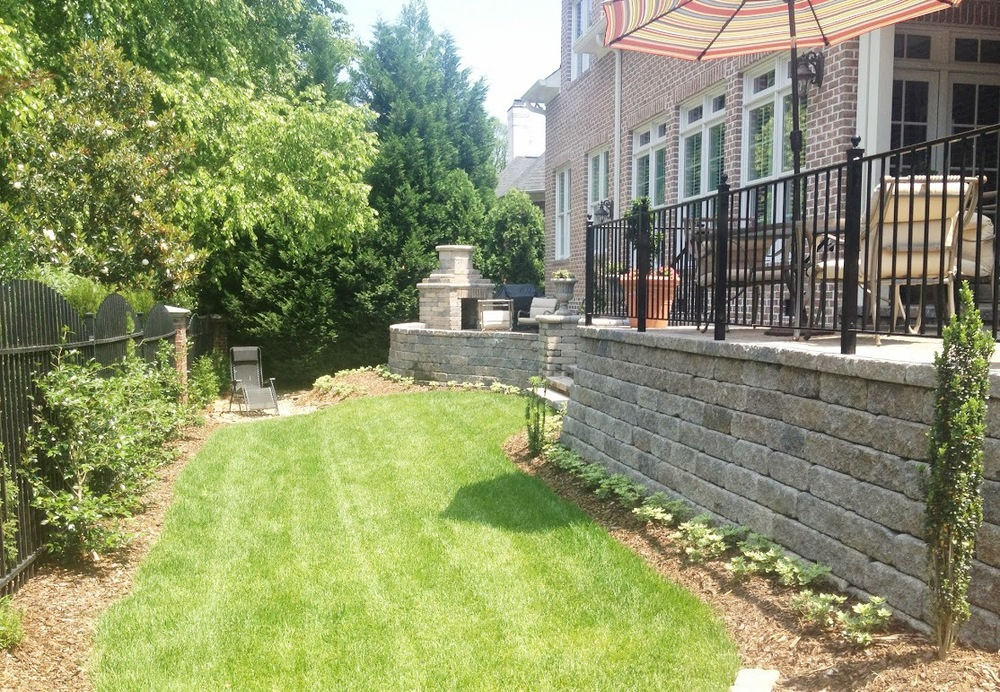 Retaining Wall & Fireplace