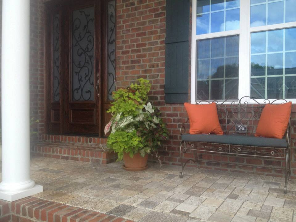 Granite Paver front porch