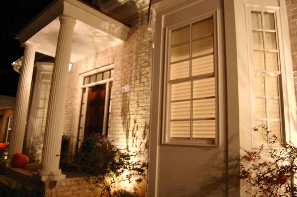 Warm White LEDs on White Brick