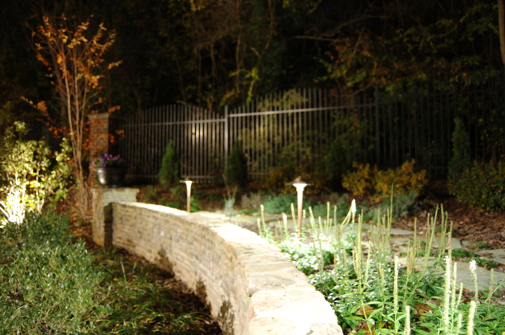 Copper Path Lights add Ambiance