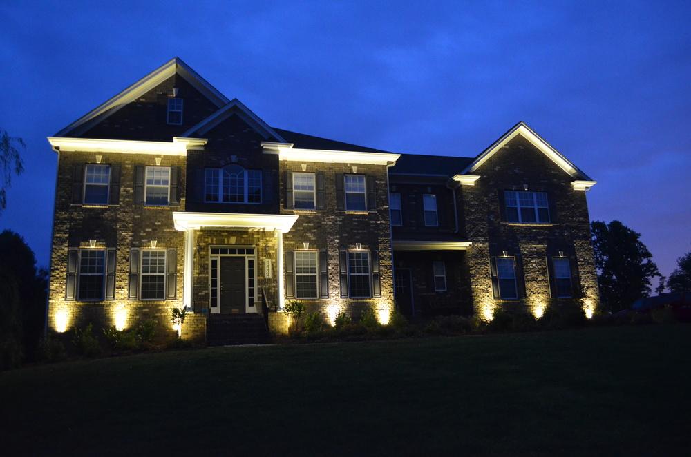LED Low Voltage Brushed Brass Bullet Lights