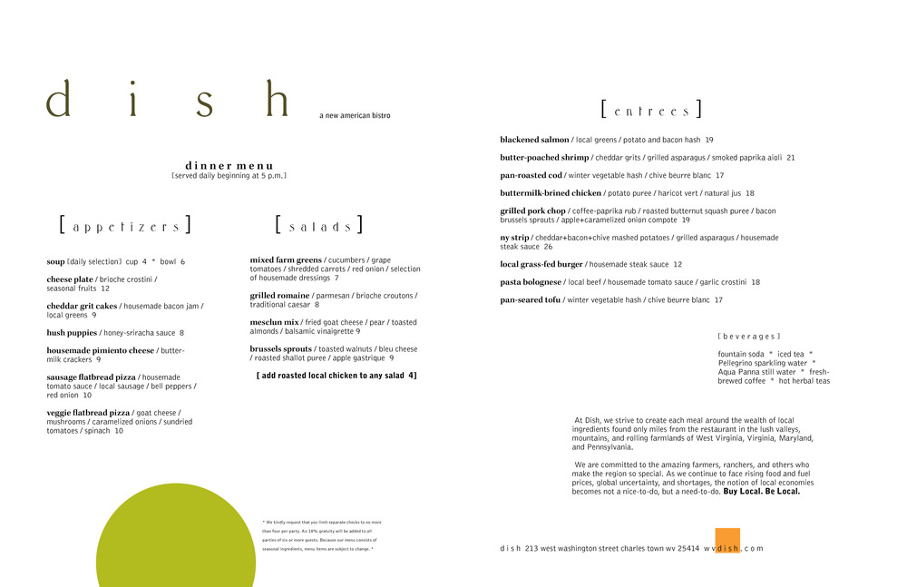 dish 2015 winter menu