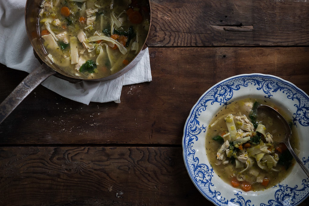 old-fashioned egg noodles + chicken soup // milly's kitchen