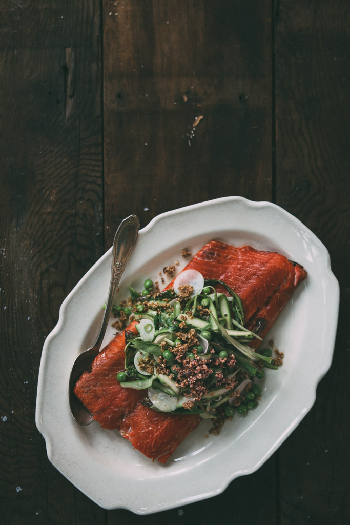 spring slaw + herb-roasted salmon // millys-kitchen.com