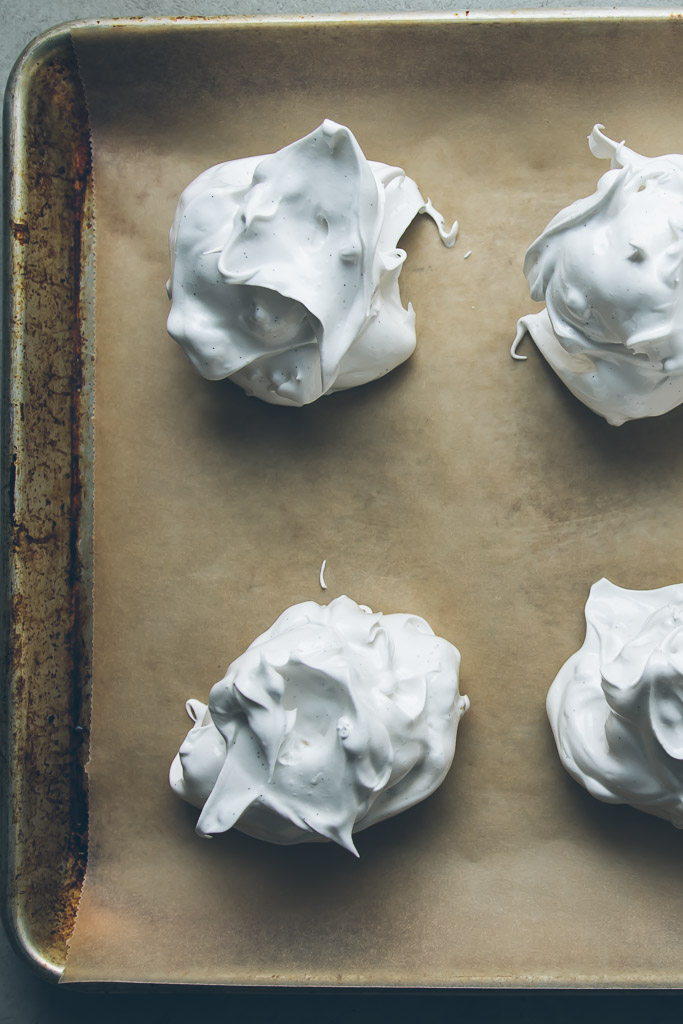 pine nut meringue pavlovas with blackberry compote // millys-kitchen.com