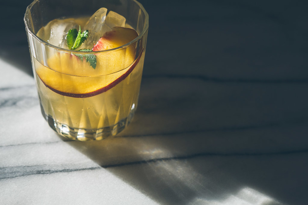 bourbon-peach fizz // millys-kitchen.com