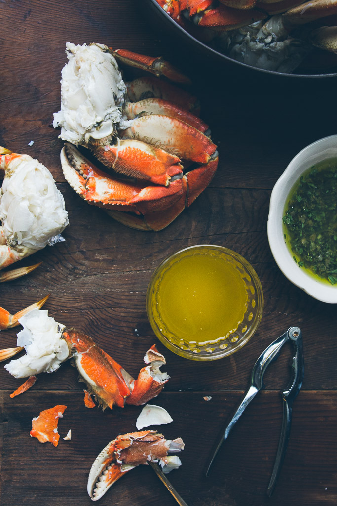 cracked crab with three sauces on millys-kitchen.com