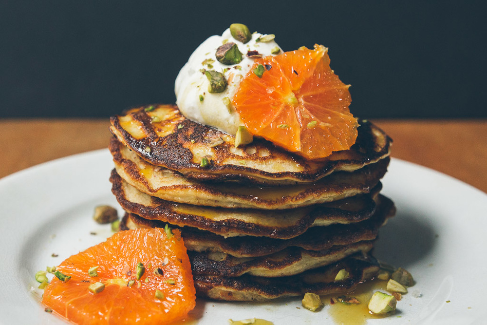 gluten-free almond pancakes on millys-kitchen.com