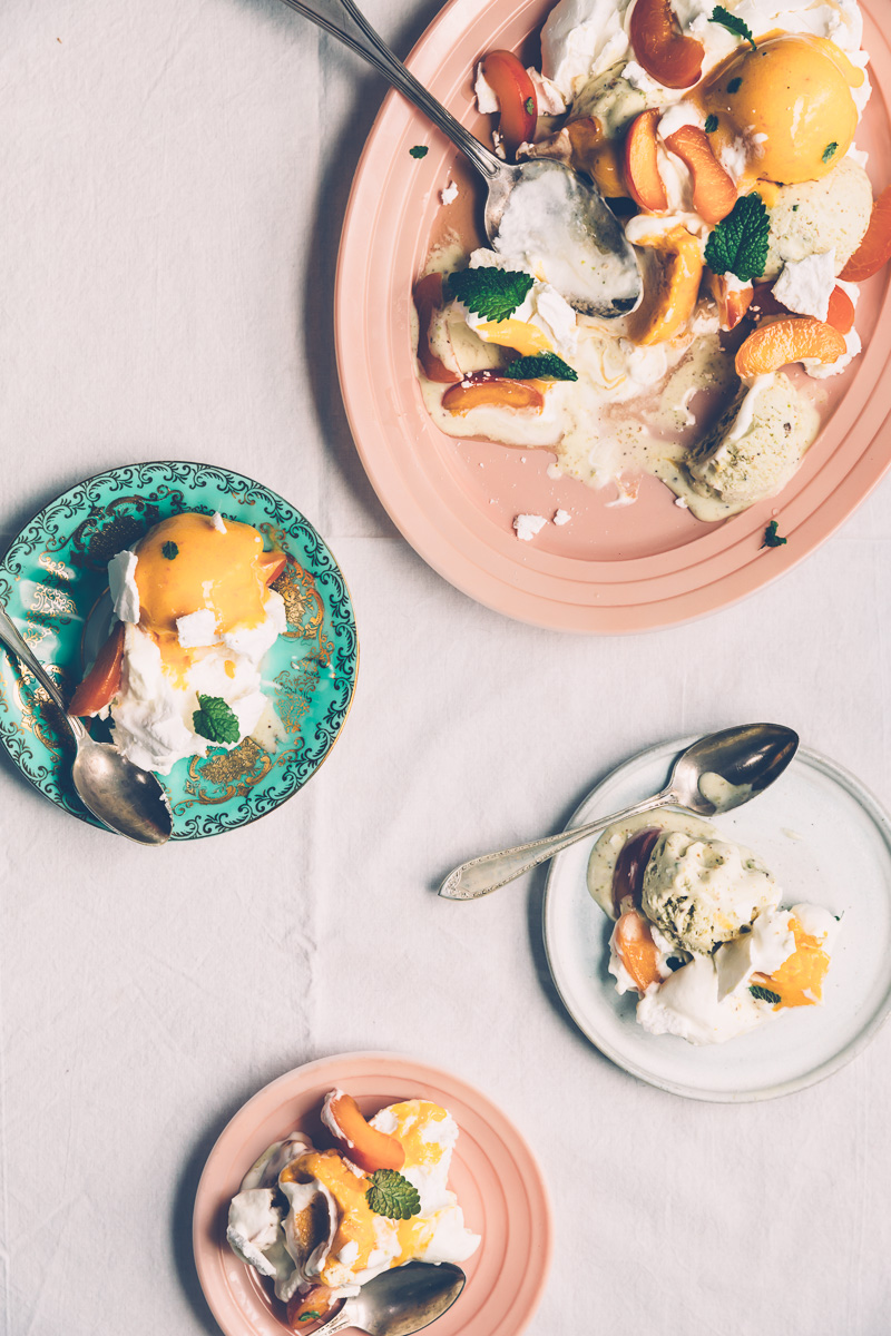 Apricot Pistachio Ice Cream Eton Mess on millys-kitchen.com