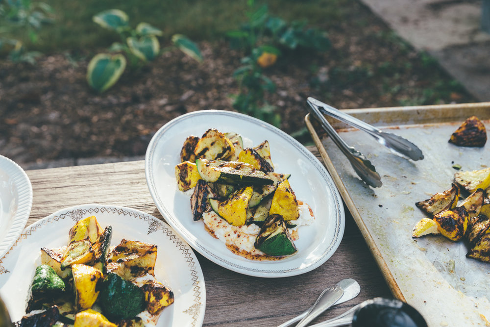 grilled zucchini with ricotta, honey and toasted barley on millys-kitchen.com