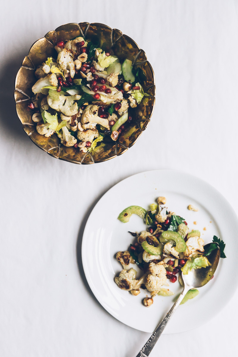 cauliflower and hazelnut salad on millys-kitchen.com