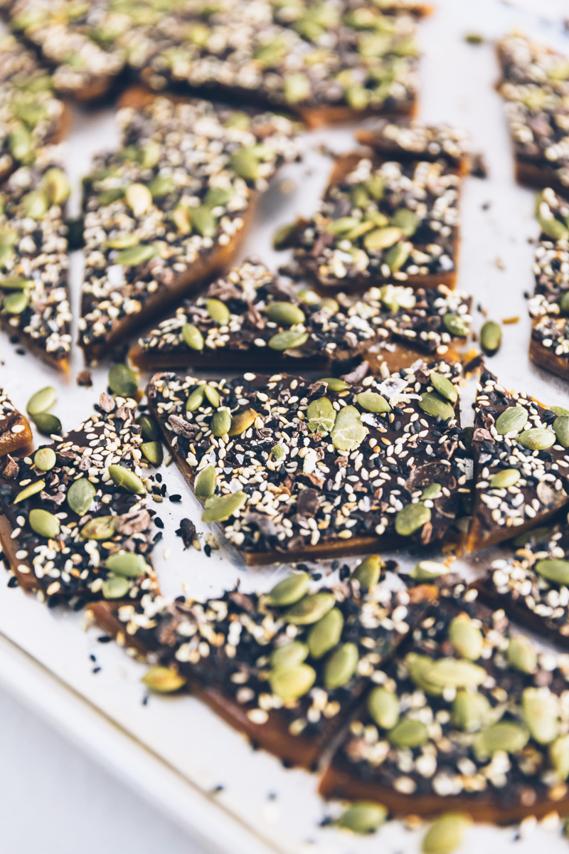 seeded toffee bark on Millys-Kitchen.com