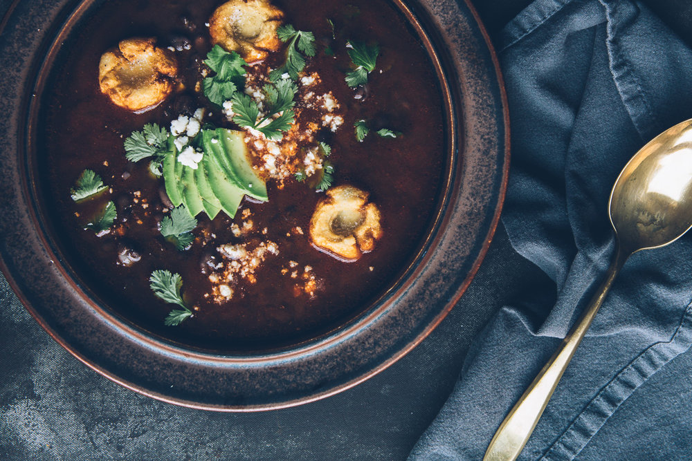 smoky tomato broth with masa dumplings || millys-kitchen.com