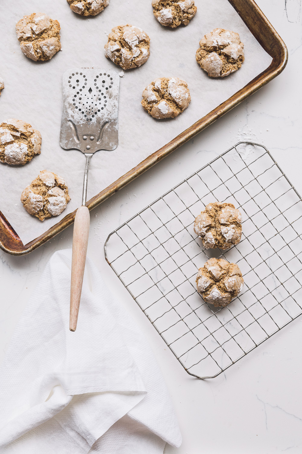 hazelnut amaretti with orange and vanilla // image: Olaiya Land