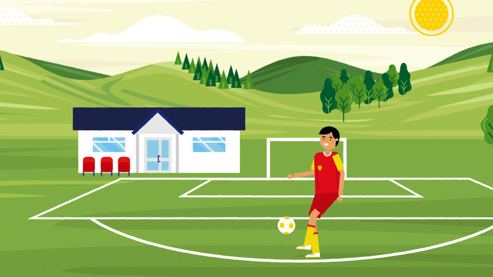 FAW - Football Keep up Illustration