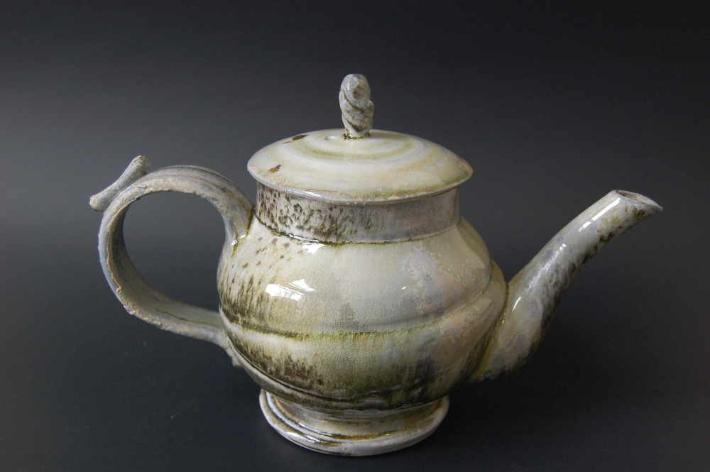 Speckled Wood Fired Tea Pot