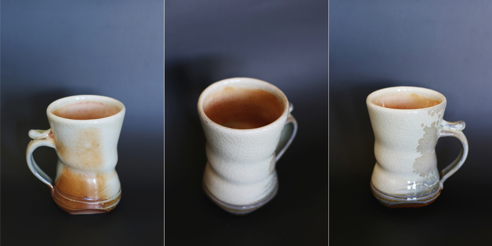 Found a couple of new glazes that are soon to become favorites, including this clear crackle glaze.