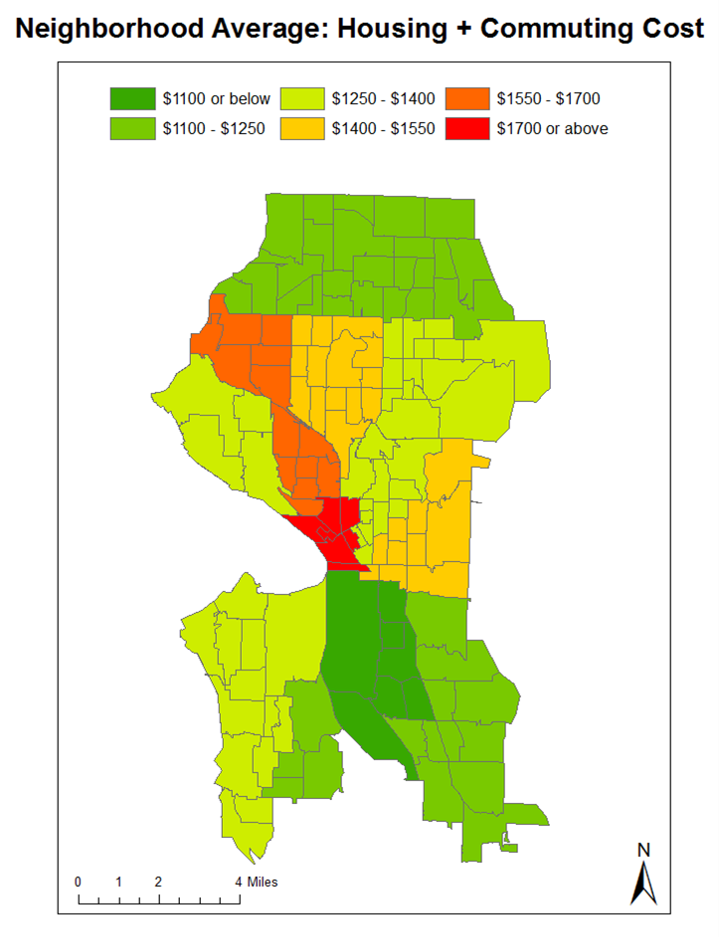GIS Analysis and Mapping: Seattle Neighborhood Affordability