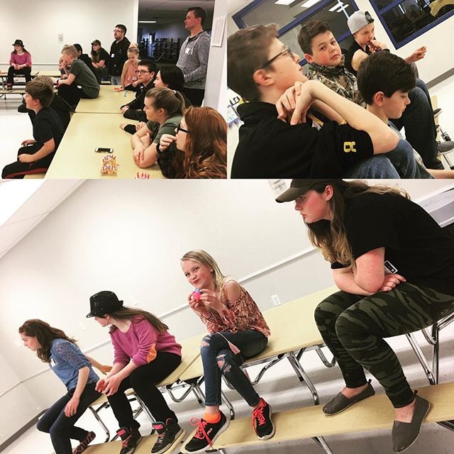 """Some"" of us we're paying attention to Pastor @tysonhickson...😎 . #youthministry #gygenyouth #jesusisreal"