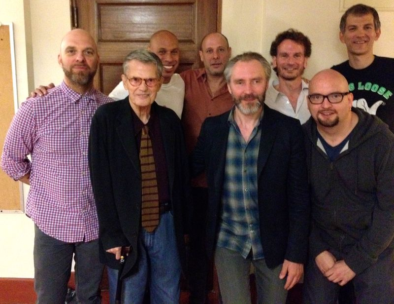 (Photo by Ruth Cameron: King, Haden, Redman, Ballard, Anderson, Grenadier, Iverson, Mehldau.)