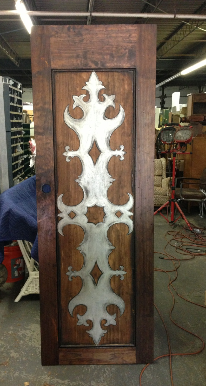 DoorTopper with silver stencil front.jpg