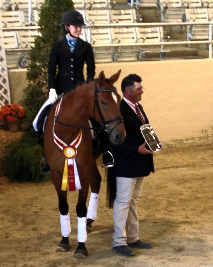 Stella Leitner and Espresso Jr/Yr First Level Reserve Champions