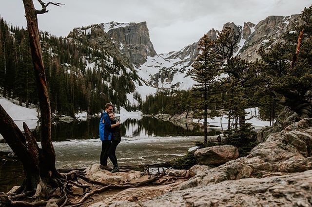 The trail was covered in snow and we ended up getting lost on the way up to the lake. When we finally made it up, the sun had already set, but we had the place to ourselves. I can't wait to photograph/film a couple up here! Hopefully next time we won't get lost.