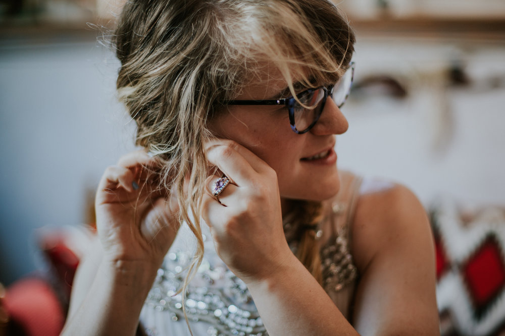 Taos New Mexico Elopement Photographer - getting ready casita