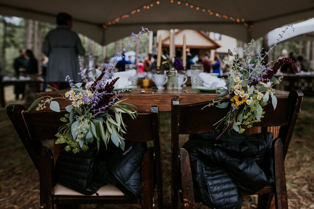 Taos New Mexico Elopement Photographer - backyard tented wedding