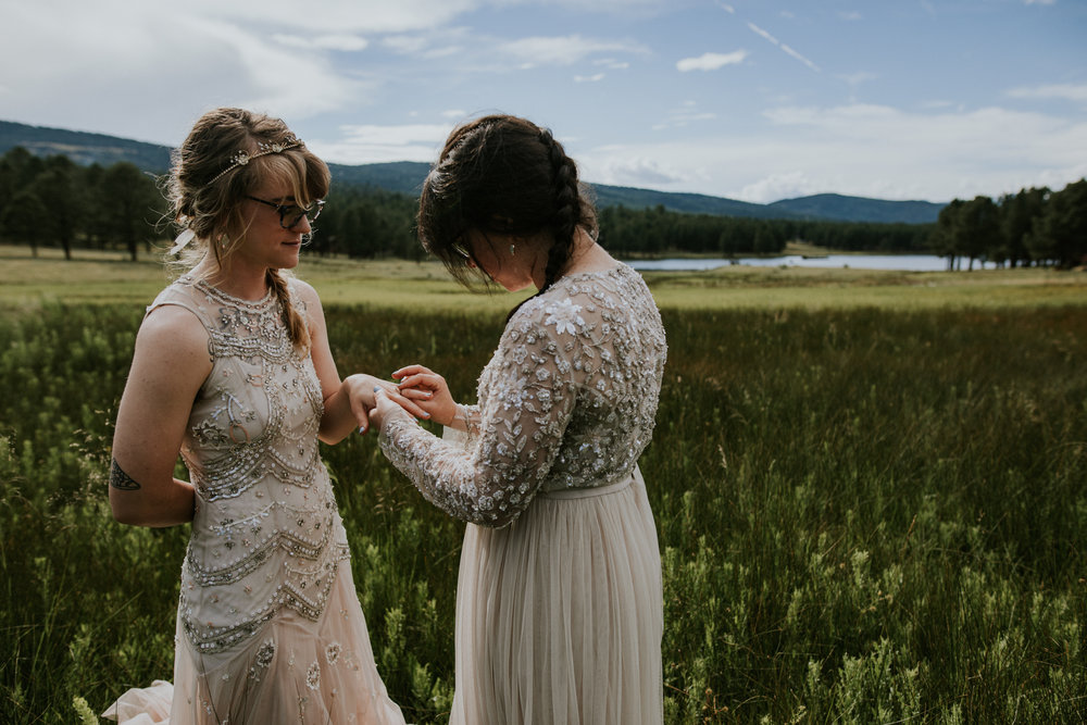 Taos New Mexico Elopement Photographer - same sex wedding portraits