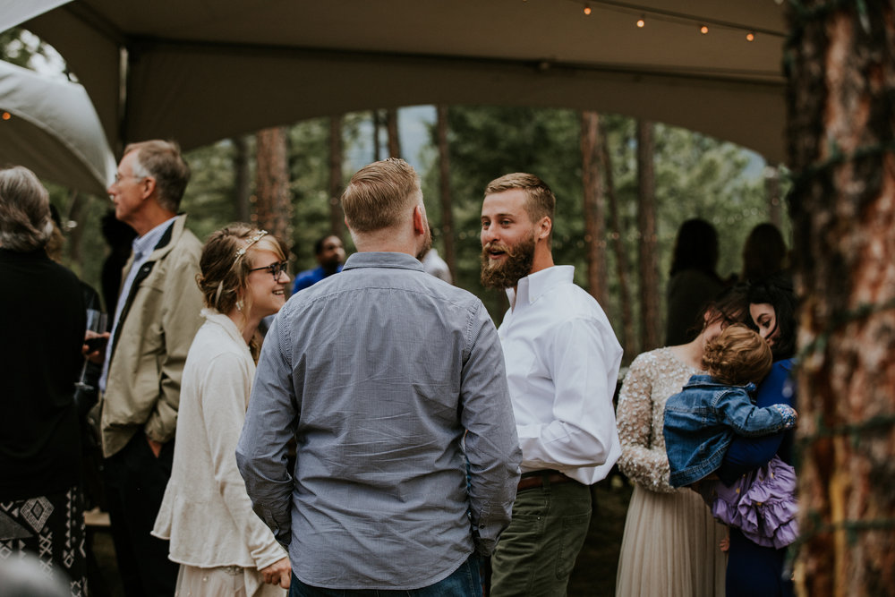 Taos New Mexico Elopement Photographer - tented backyard reception