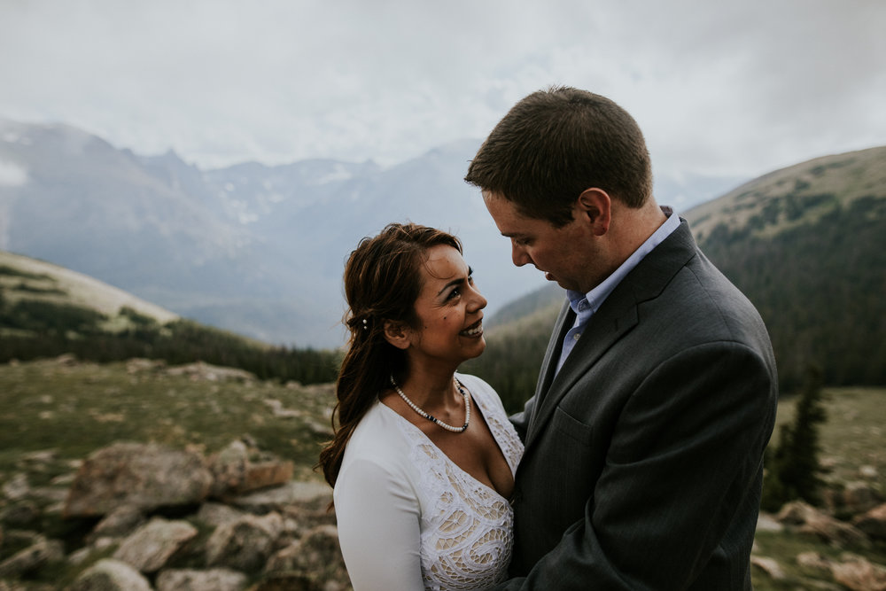 Destination Elopement Photographer - Vow of the Wild - Rocky Mountain National Park - Hiking Elopement - Trail Ridge Road