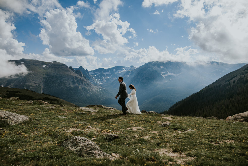 Destination Elopement Photographer - Vow of the Wild - Rocky Mountain National Park - Mountaintop Hiking Elopement - Trail Ridge Road