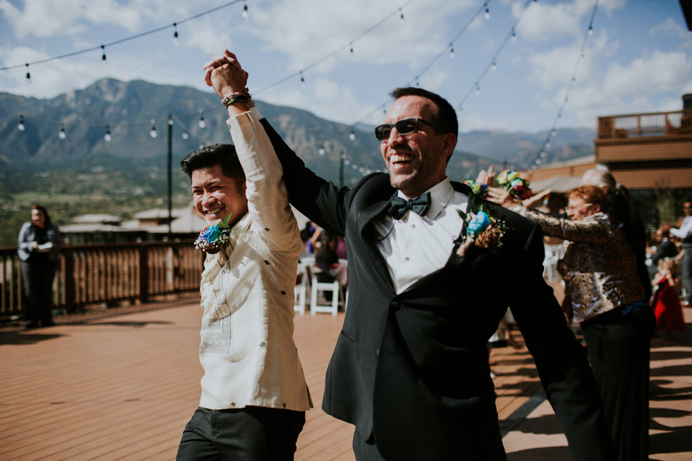 Same Sex Elopement Photographer - Cheyenne Mountain - Colorado Springs Destination Wedding - Ceremony
